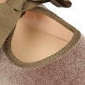 VELVET canvas Ballet flat shoes angel style.