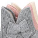 Nueva Bota de casa Niña LAZO en lana estructurada.