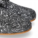 Classic Laces up shoes in GLITTER.