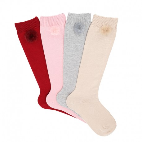 Condor knee high pom-pom socks