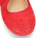 New Autumn winter canvas Mary Janes with ties closure and CRYSTALS design.