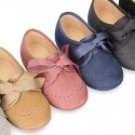 New autumn winter canvas laces up shoes with ties closure for little kids.