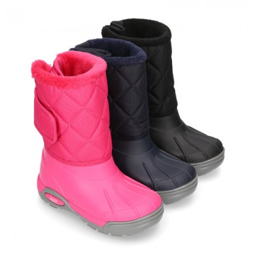 New Little rain boots APRESKI NYLON style with wool knit lining.