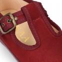New Autmn winter canvas little T-Strap shoes.