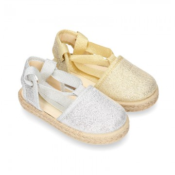 METAL Canvas Girl Valenciana style espadrille shoes.