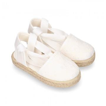 MAHON design Canvas Girl Valenciana style espadrille shoes.