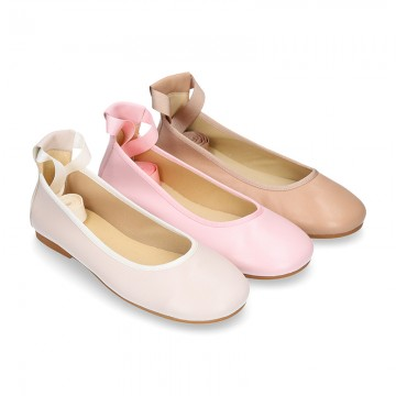 SOFT nappa leather Ballet flats dancer style.