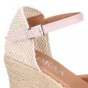Women Wedge soft cotton canvas sandal espadrille shoes.