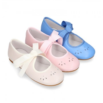 Girl SOFT Nappa leather little Mary Jane shoes angel style.