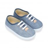 JEANS Cotton canvas kids Bamba shoes.