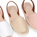 EXTRA SOFT leather Menorquina sandals with rear strap and glitter finishes.