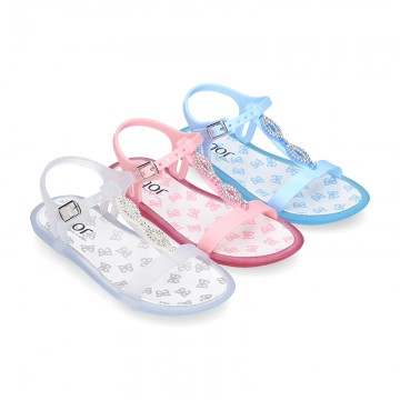 Jelly shoes T-Strap sandal style with GLOSS design.