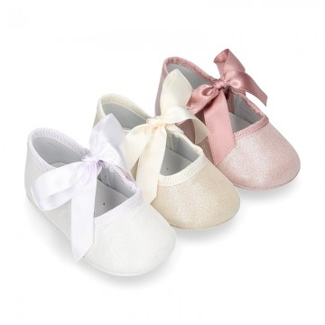 METAL canvas Little Mary Janes angel style for babies.