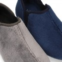 Wool effect cloth Home shoes with elastic design for autumn winter.