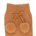 WARM COTTON KNEE-HIGH SOCKS WITH POMPOMS BY CONDOR.