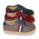New SPECIAL OKAA EDITION autumn winter canvas tennis shoes with flag design.