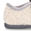 Wool knit ELEPHANT design home shoes laceless.