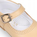 Halter little Mary Jane shoes with buckle fastening in nappa leather.