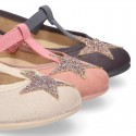 Autumn winter little T-strap Mary Jane shoes with STARS DESIGN.