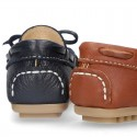 EXTRA SOFT nappa leather Moccasin shoes with bows for little kids.