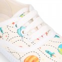 New Cotton canvas sneaker shoes with SPACE type design.