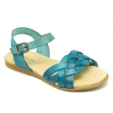 Cowhide leather Braided sandal shoes for toddler girls.