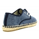 Laces up espadrille shoes in washed cotton canvas.