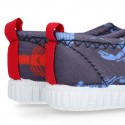 NEOPRENE fabric kids Sneaker shoes for beach and pool use with LOBSTERS design.