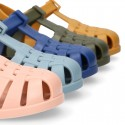 Cangrejera clásica niños colores SÓLIDOS con cierre CLIP para Playa y Piscina.
