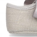 LINEN canvas Little Mary Janes angel style for babies.