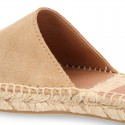 New suede leather CLOG style espadrille shoes.