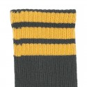 CHILDREN´S SPORT KNEE HIGH SOCKS WITH THREE STRIPES BY CONDOR.