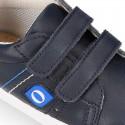 Deportiva niño OKAA FLEX sin cordones en color azul marino.