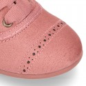 Autumn winter MAKE UP PINK canvas Kids LACES UP shoes with chopped design.