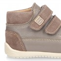 Nappa leather OKAA FLEX kids Bootie shoes laceless and with toe cap in seasonal colors.