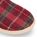 Classic WOOL knit closed Kids home shoes with SQUARE design.