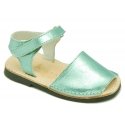 METAL Leather Menorquina sandals with flexible outsole and hook and loop strap.