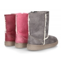 Autumn winter canvas lined boot shoes Australian style.