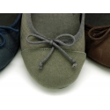 Autumn winter canvas Ballet Falt shoes with ribbon and snake print.