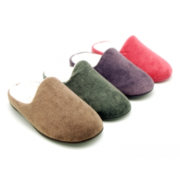 New openned home shoes in soft wool knit.