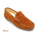 Suede leather moccasins shoes with detail mask and driver type Outsole.