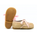NEW Soft suede leather Oxford style shoes with ties closure.