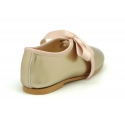New Little Angel style ballet flat shoes in MEAL finish leather.