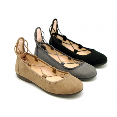 Autumn winter canvas ballet shoes dancer style.