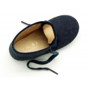 Little ankle boot shoes with denim design.