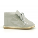 Little bear safari boots in soft colors patent leather.