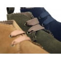 New Suede leather laces up style ankle boot shoes with waves.