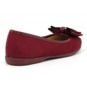 Autumn winter canvas ballet flats with big bow in patent finished.
