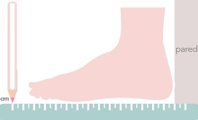 Guía De Tallas Cómo Medir El Pie Okaaspain